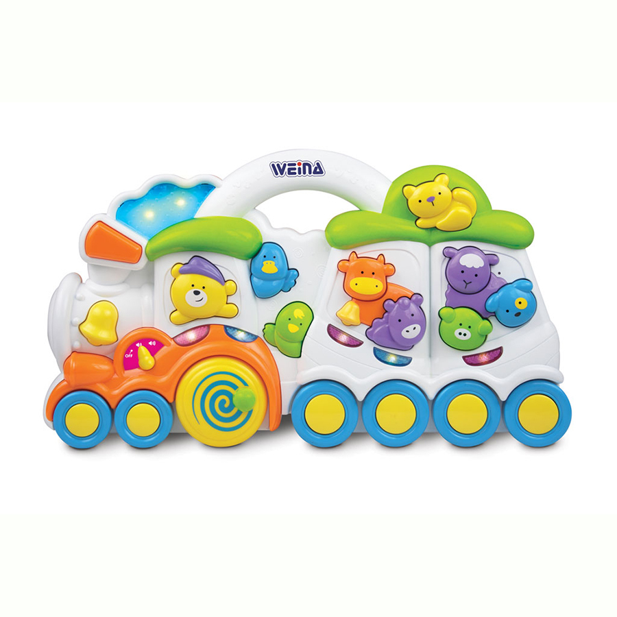 Развивающая игрушка музыкальная Weina Веселый поезд
