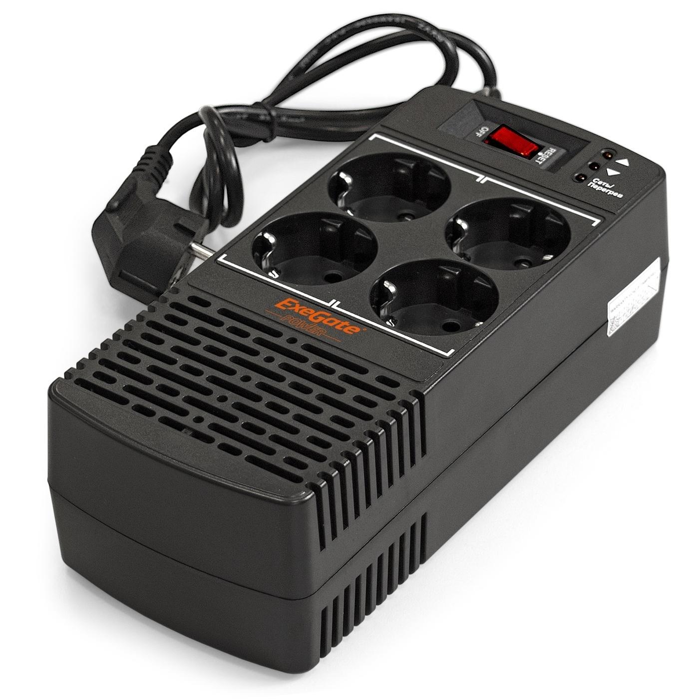 Стабилизатор напряжения Exegate AD5000-800, 800 В·А, Однофазная сеть