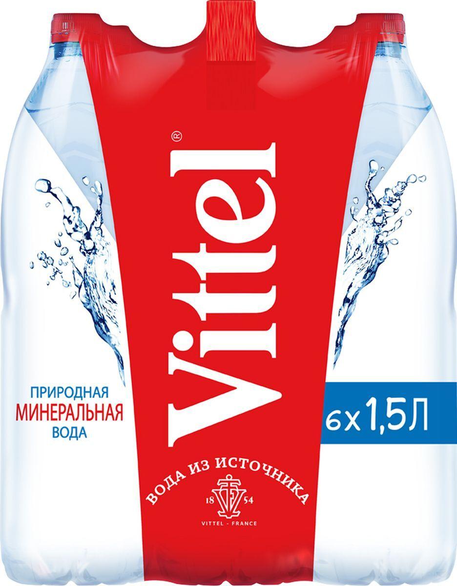 Вода Vittel минеральная, без газа, 1,5 л х 6 шт #1