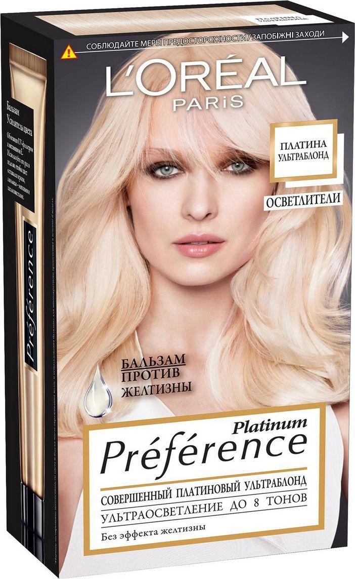 """L'Oreal Paris Стойкая краска для волос """"Preference, Платина Ультраблонд"""", 8 тонов осветления  #1"""