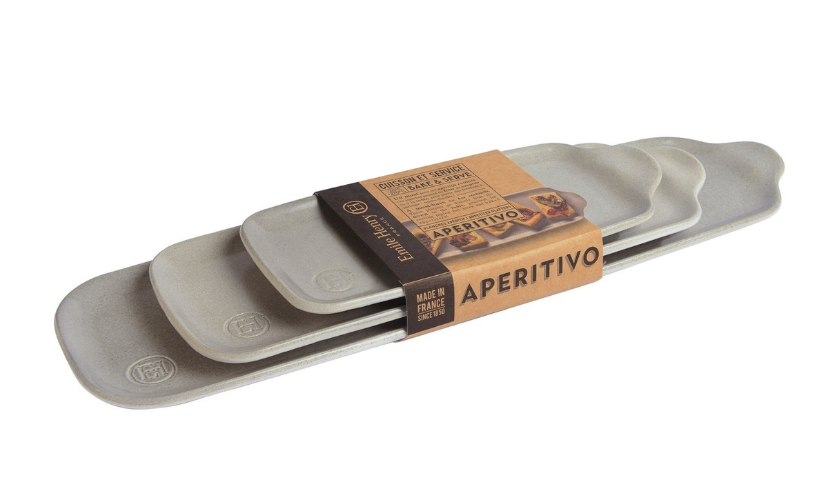 Набор блюд Emile Henry Аперитив, цвет серый, 3 шт #1