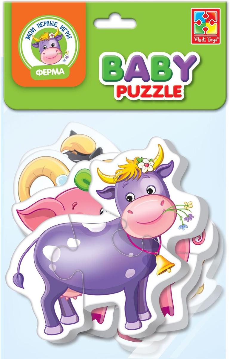 Мягкие пазлы для малышей Vladi Toys Ферма VT1106-51 #1