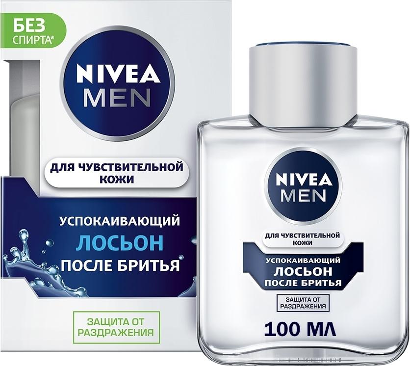 Nivea Men Для чувствительной кожи Лосьон после бритья, успокаивающий, без содержания спирта, 100 мл  #1