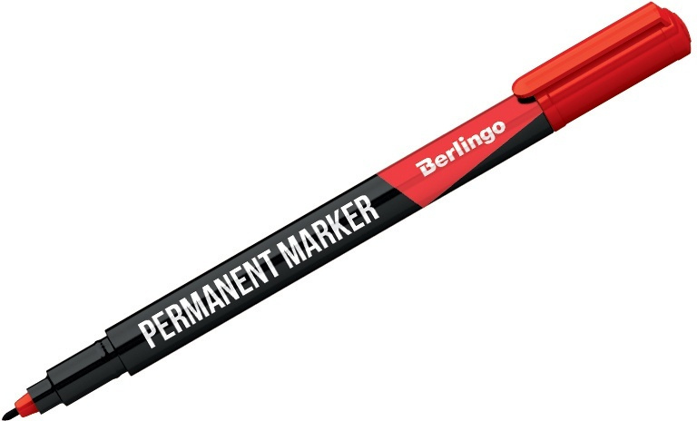 Berlingo Маркер перманентный цвет красный PM6322 #1