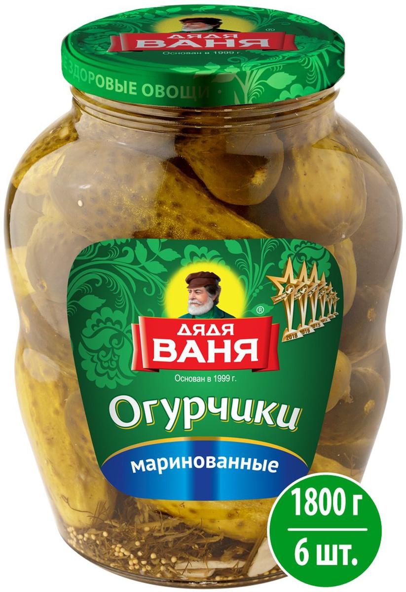 Овощные консервы Дядя Ваня Огурцы маринованные, 6 шт по 1,8 кг  #1