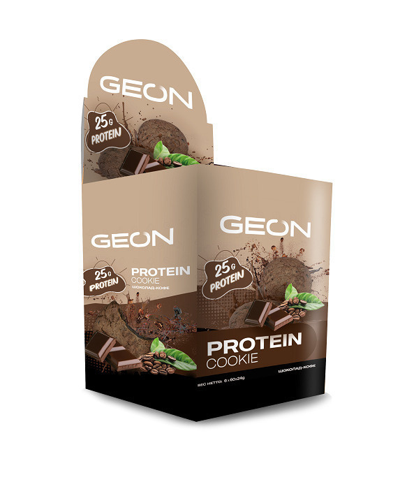 Печенье протеиновое GEON Шоколад и кофе 6 шт. #1