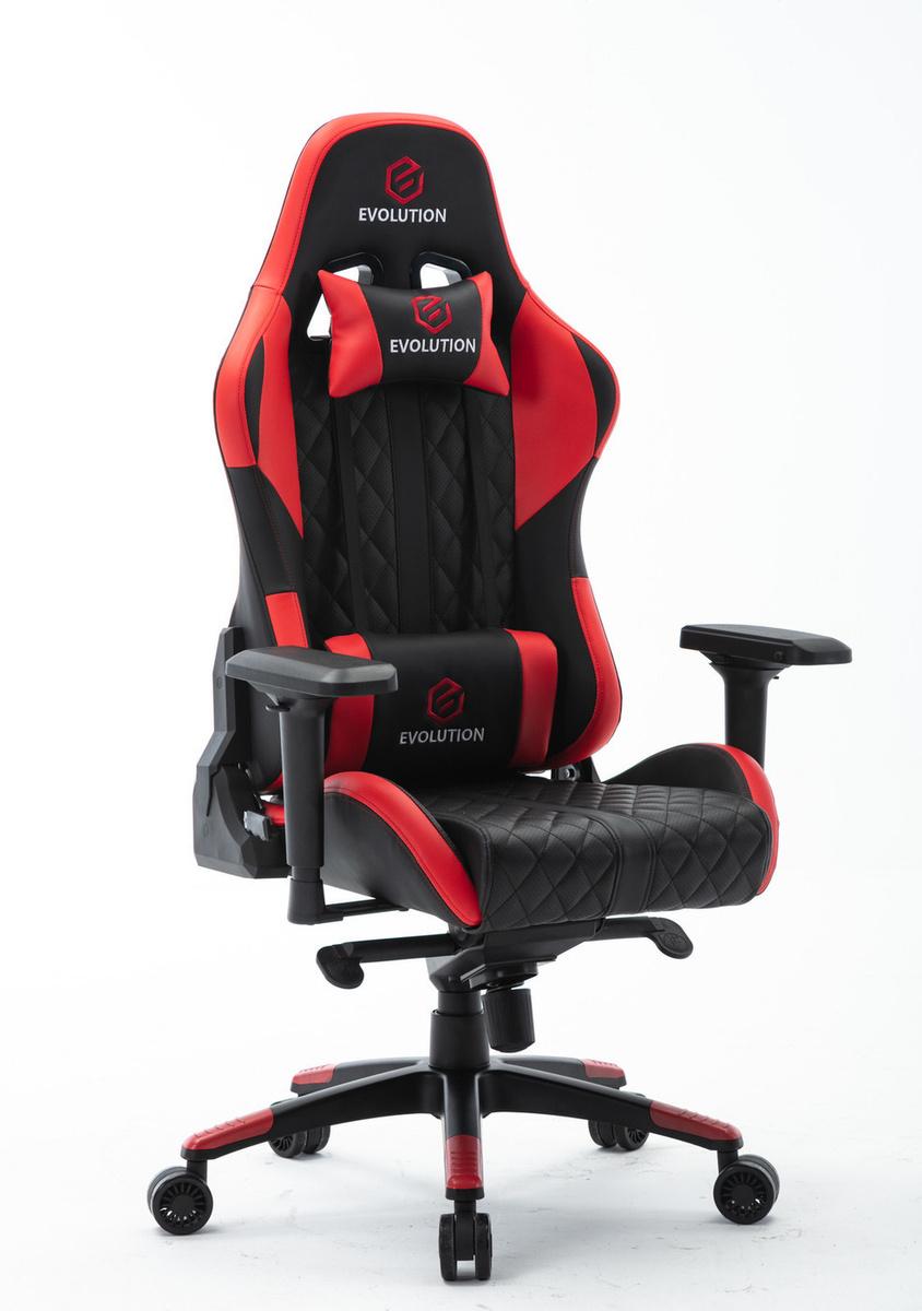 Игровое компьютерное кресло Evolution RACER, Перфорированная экокожа  #1