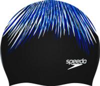 Шапочка для плавания Speedo Prt Long Hair Cap Af, 8-11306B722-B722, черный, голубой, белый