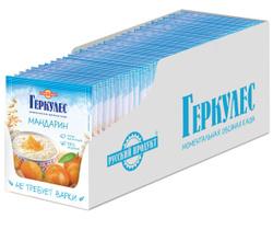 Овсяная каша момент Геркулес с мандаринами 35г/30 штук в упаковке. Промо-товары