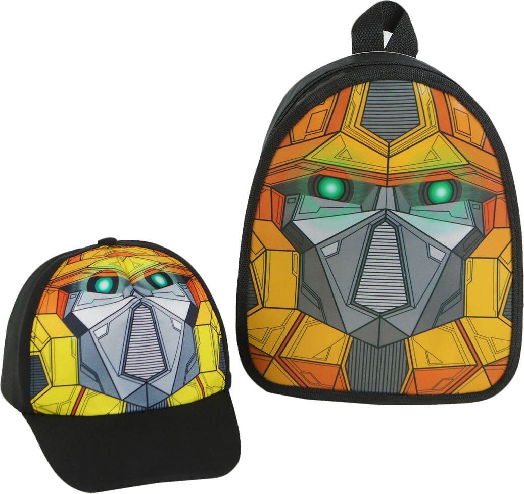 Школьный ранец Робот, с кепкой, 3950098, 25,5 х 22 х 4,5 см