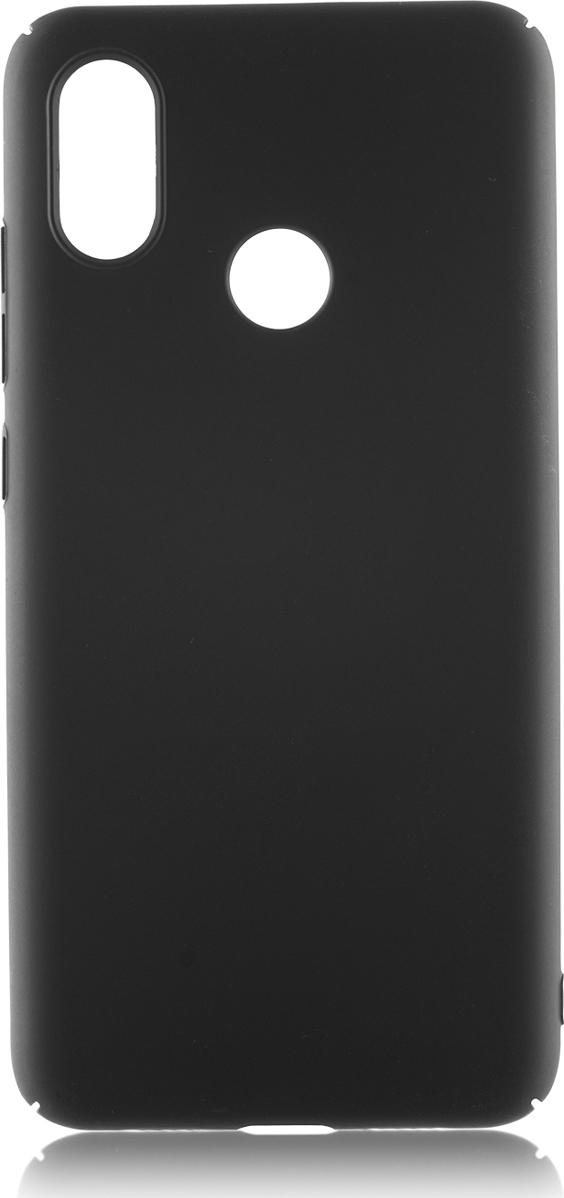 Чехол-накладка Brosco четырехсторонний Soft-touch для Xiaomi Mi 8, черный цена и фото