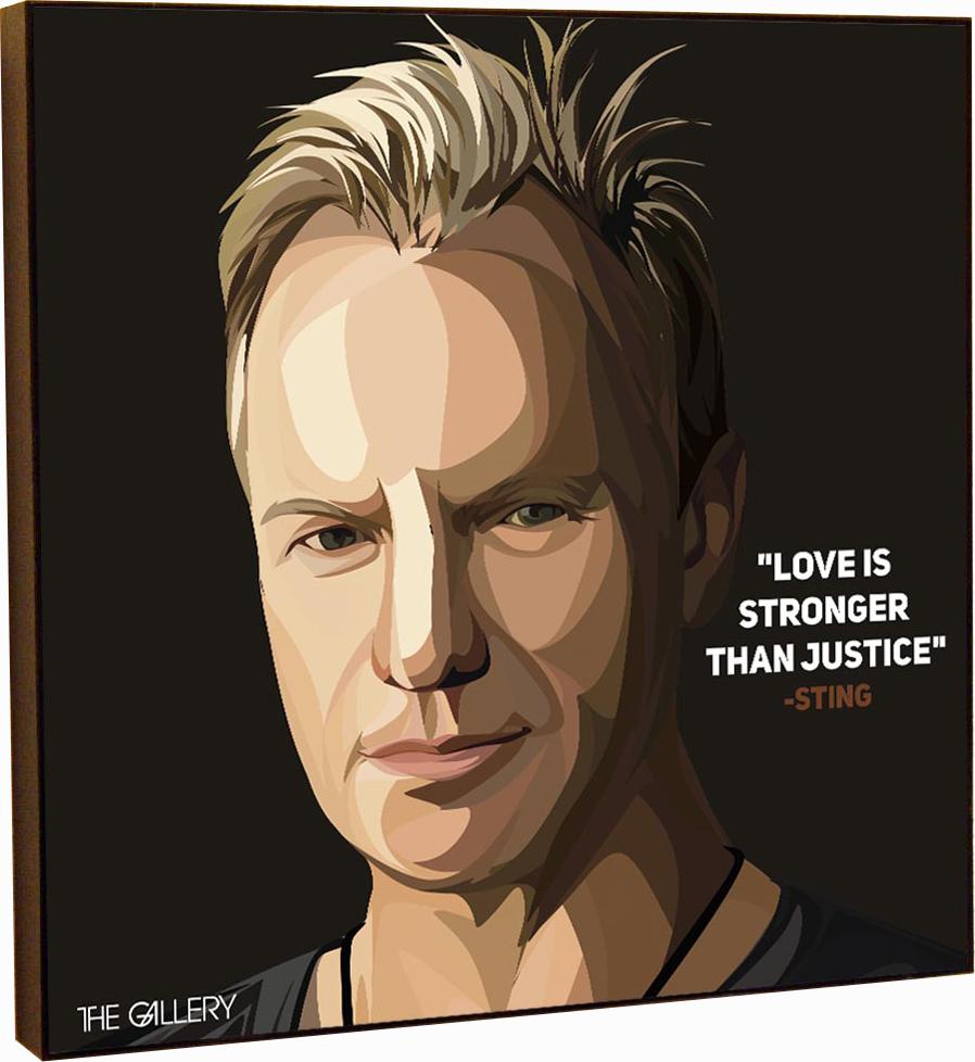 Картина постер Стинг в стиле поп-арт 25 х см