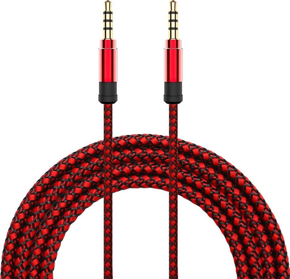 Кабель Nuobi AUX, Jack 3.5mm (Red)