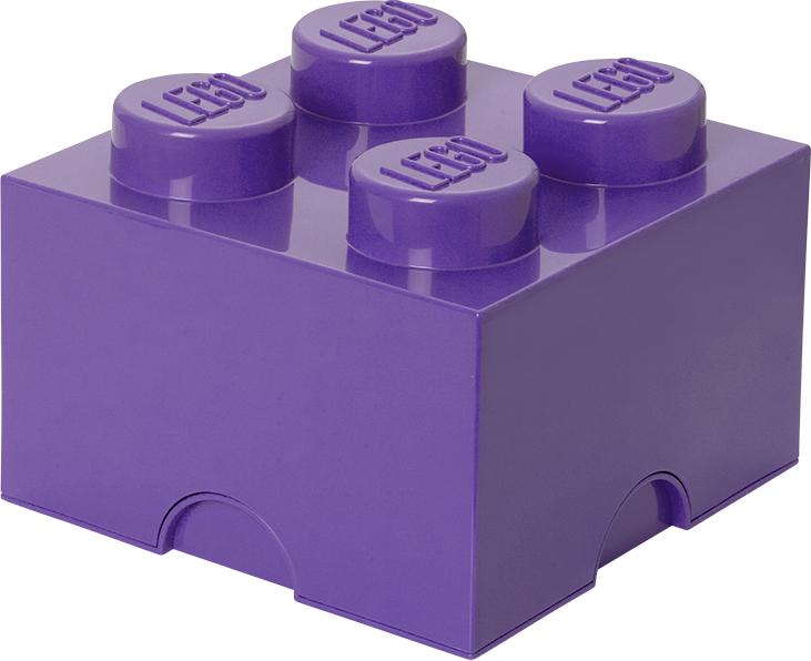 Ящик для хранения 4 LEGO лиловый бокс под мелкие запчасти peng workers