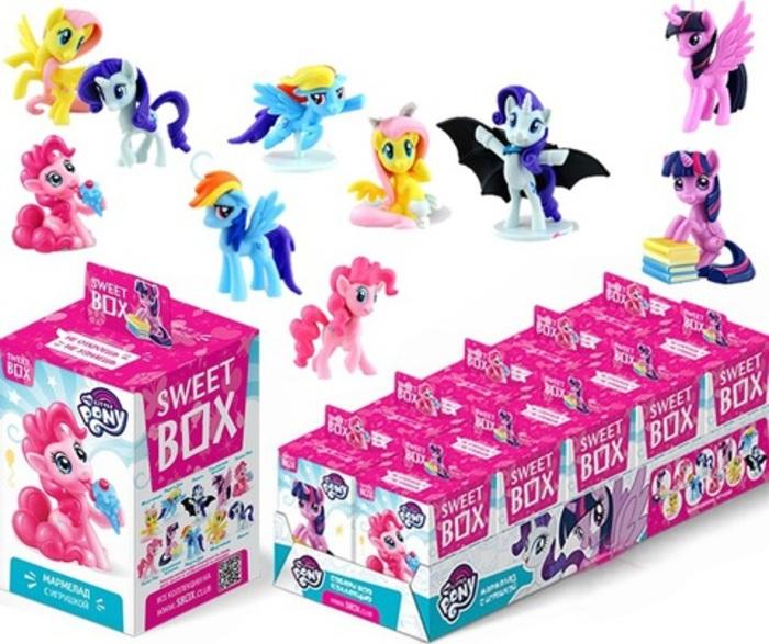 Sweet Box My Little Pony коллекция 3, сладкий набор игрушка с мармеладом (блок 10 штук) цена