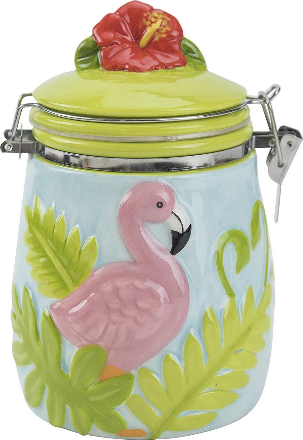 Банка для сыпучих продуктов Flamingo