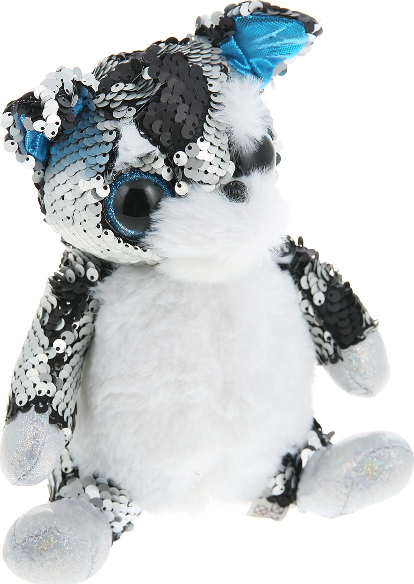 Мягкая игрушка Abtoys Собака, с пайетками, M2038пц, мультиколор, 15 см
