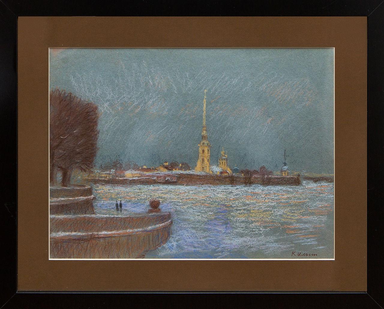 Картина Вид на Петропавловскую крепость Ильин картина весна на неве ильин