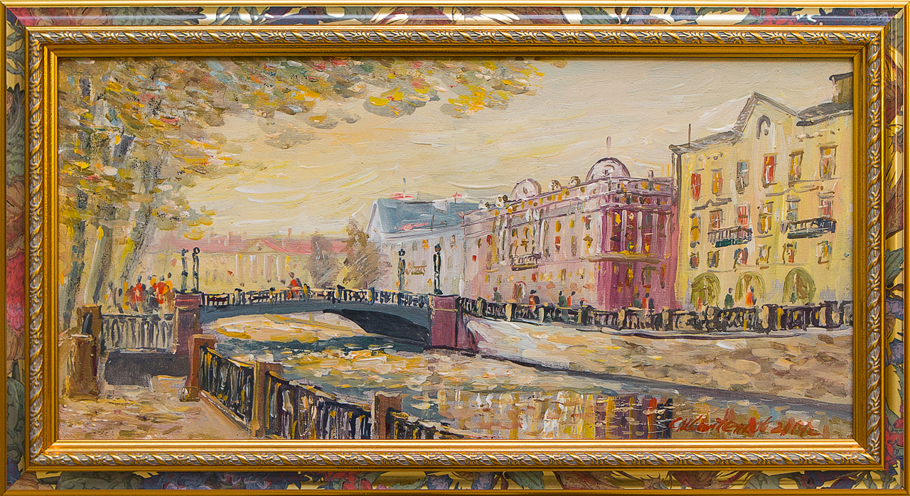 Картина маслом Вознесенский мост Иванченков картина маслом казанский собор иванченков