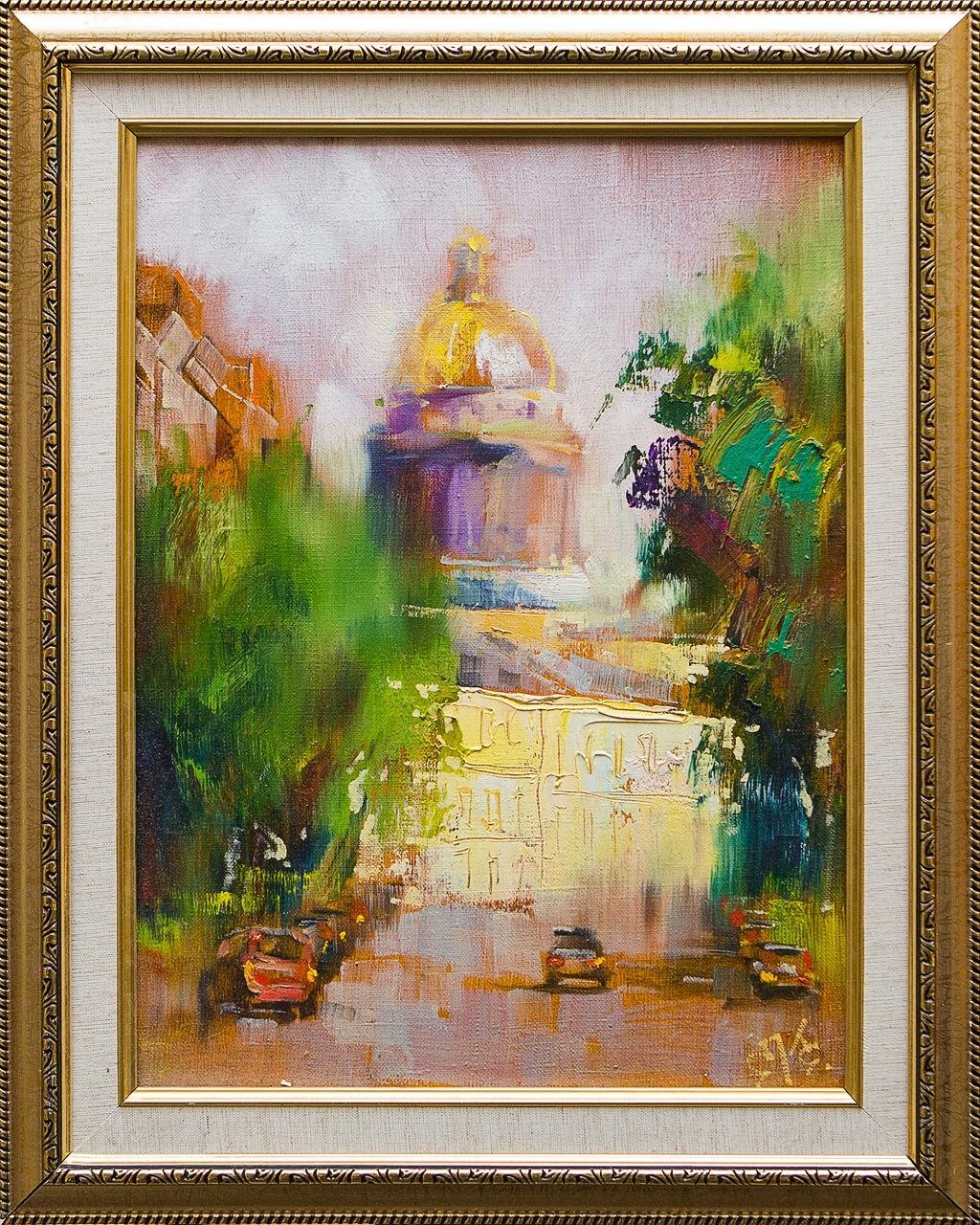 Картина маслом Исаакиевский собор Сухоплюев картина маслом исаакиевский собор с крыши сухоплюев