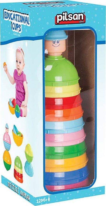 Набор цветных чашек Pilsan Educational Colorful Cups