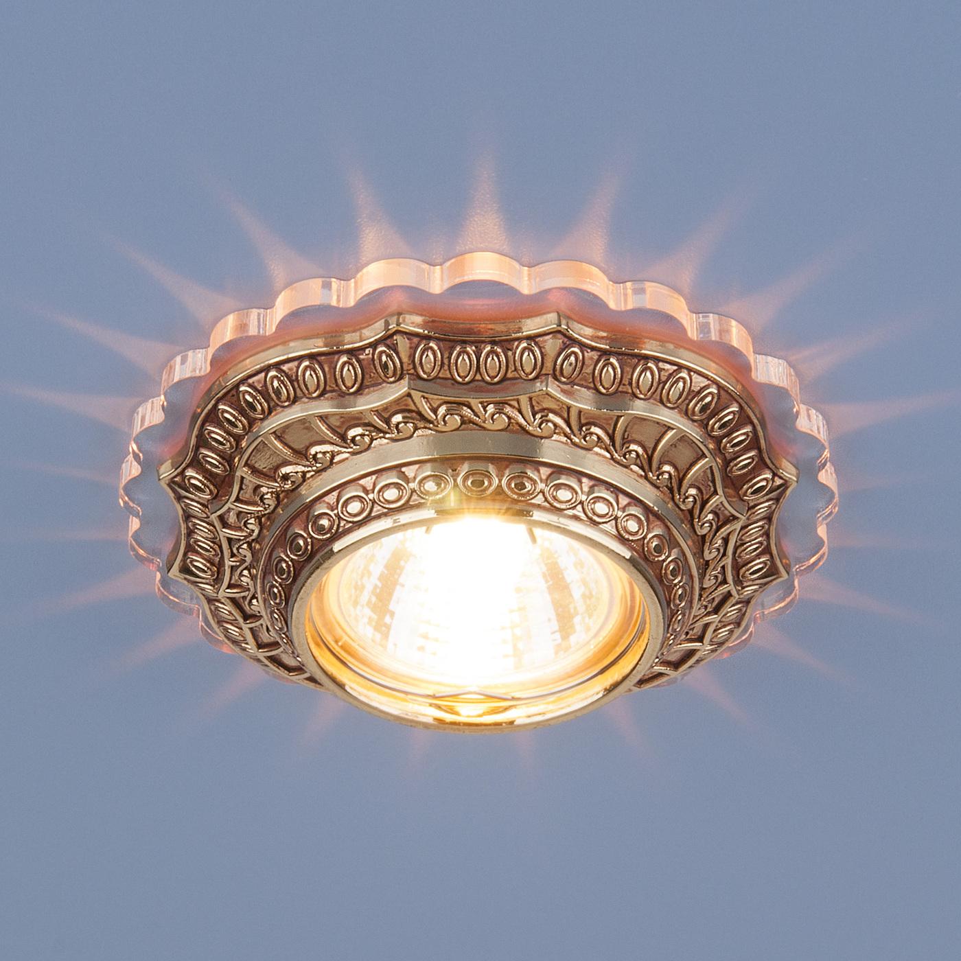 Встраиваемый светильник Elektrostandard потолочный 6027 MR16 GD, G5.3 светильник встраиваемый escada milano gu5 3 001 gd