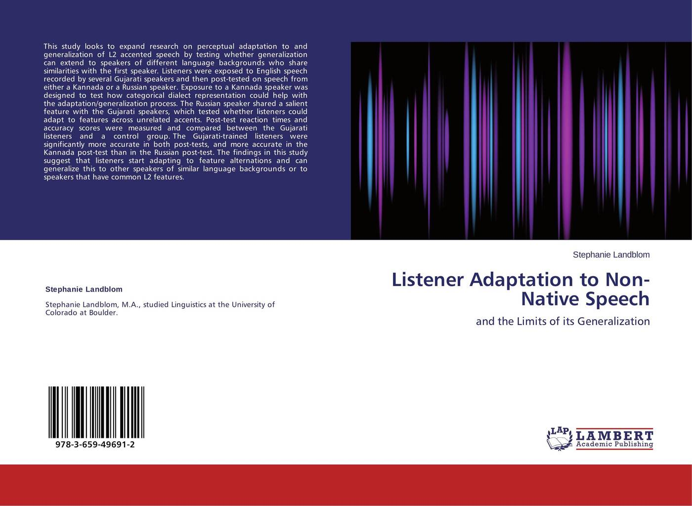 Stephanie Landblom Listener Adaptation to Non-Native Speech fm radio language and its effect on the young listeners