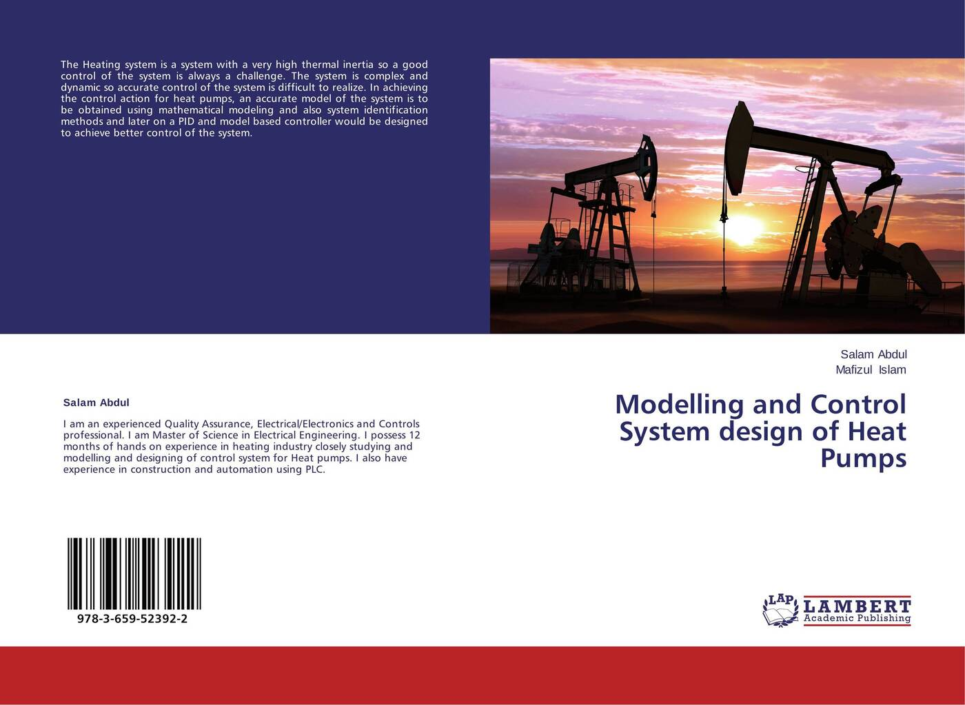 Salam Abdul and Mafizul Islam Modelling and Control System design of Heat Pumps mohammad shahidehpour handbook of electrical power system dynamics modeling stability and control