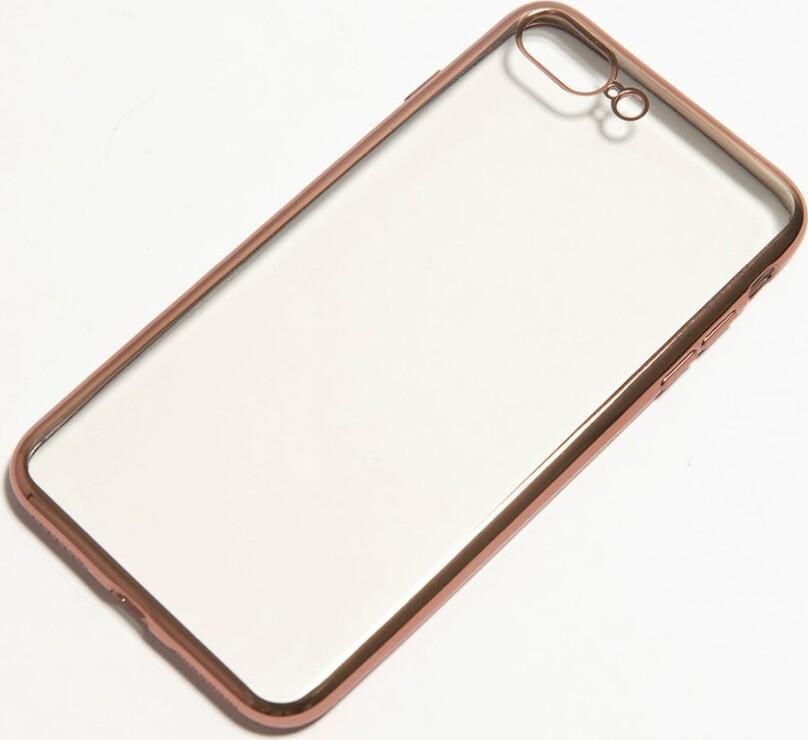 Защитный силиконовый чехол TFN для iPhone 8 Plus/7 Plus Glaze, розовое золото все цены