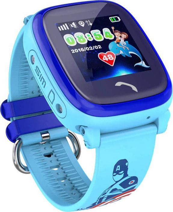 Детские умные часы телефон с GPS Smart Baby Watch DF25, голубые детские умные часы smart baby watch i8 тёмно синий