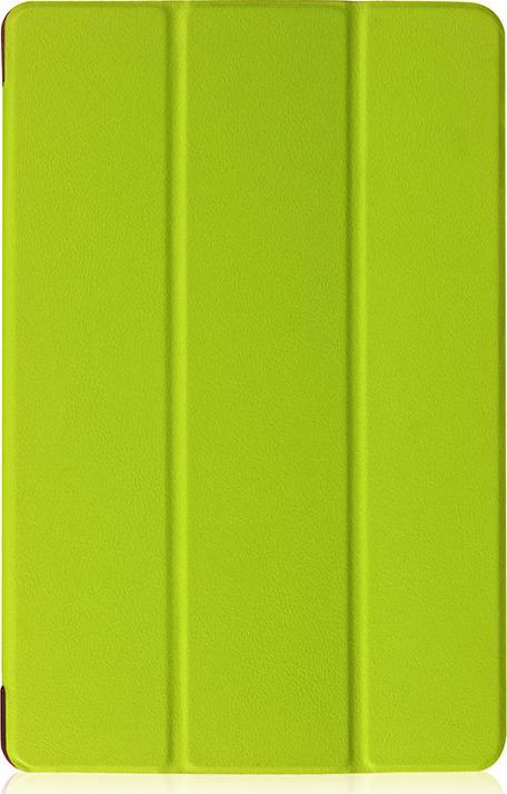 Чехол-обложка MyPads для Acer Iconia One 10 B3-A30 тонкий умный кожаный на пластиковой основе с трансформацией в подставку зеленый
