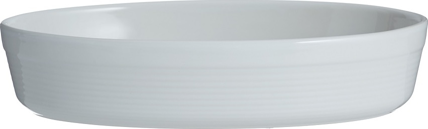 Блюдо для запекания Mason Cash William овальное 28 см белое