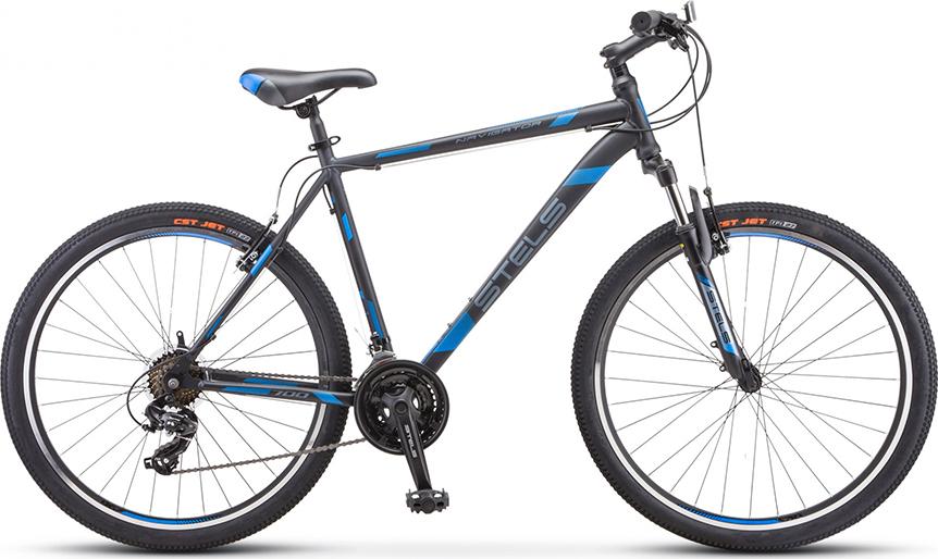 Велосипед Stels Navigator 700 V V020 Серый/синий 27.5 (LU093447), 17.5'