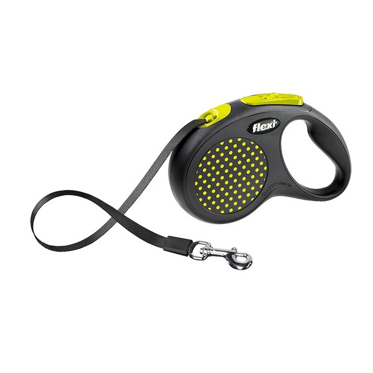 Поводок-рулетка Flexi Design tape M 5m 25 kg yellow