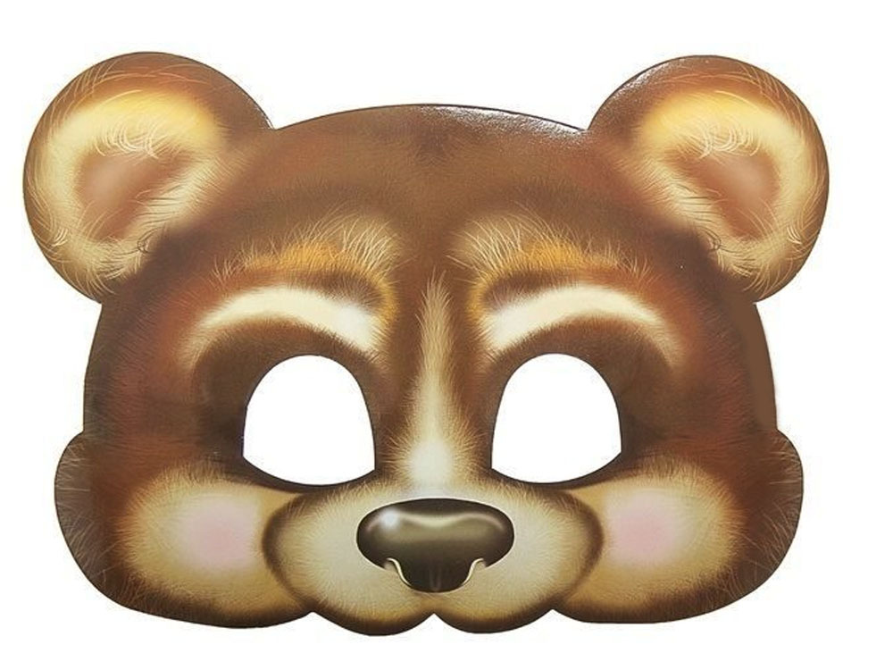 картинка маски медведя большая выпархивала утра