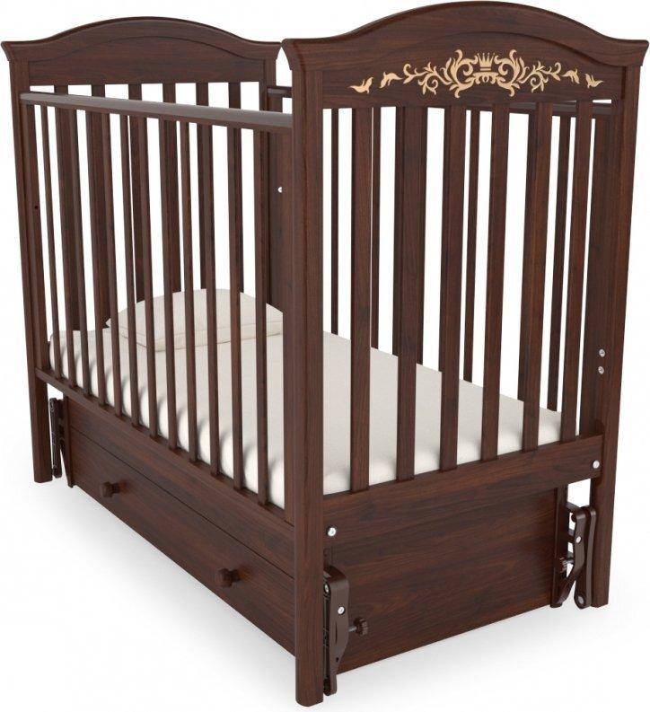 Кровать  детская Гандылян Даниэль Люкс маятник универсальный (орех)