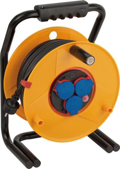 1312500 Brennenstuhl удлинитель на катушке Brobusta Bretec, 40м., 3 розетки, черный кабель, IP44, пластик