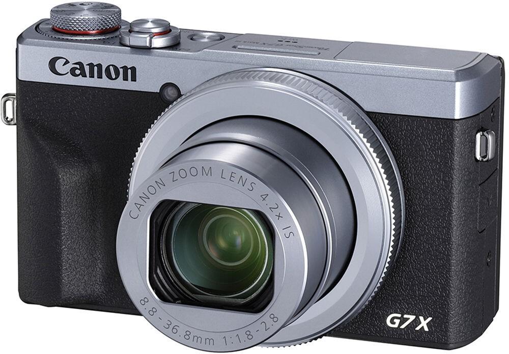 беззеркальный фотоаппарат canon powershot g7 x mark iii, серебристый