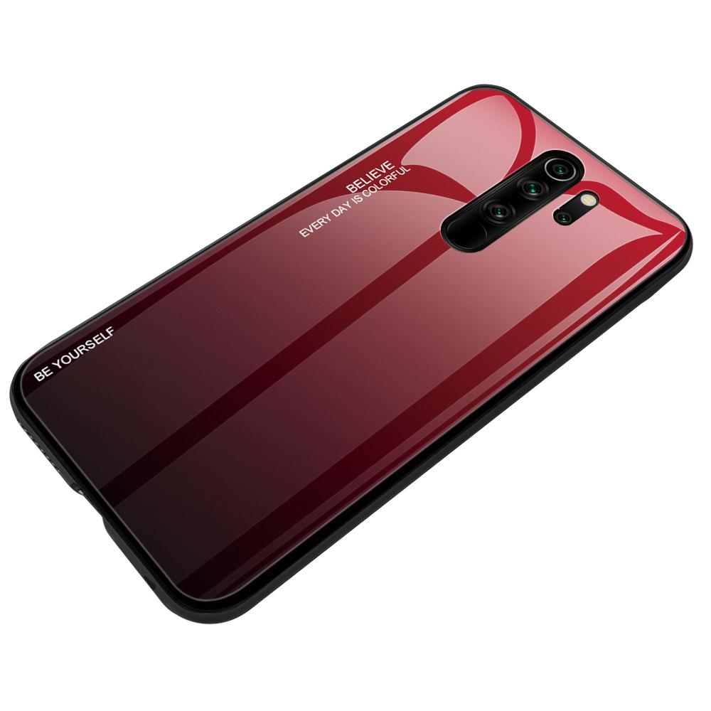 Чехол-бампер MyPads для Honor 9X (STK-LX1) Huawei Honor 9X Premium / Honor 9X стеклянный из закаленного стекла с эффектом градиент зеркальный блестящий переливающийся красный