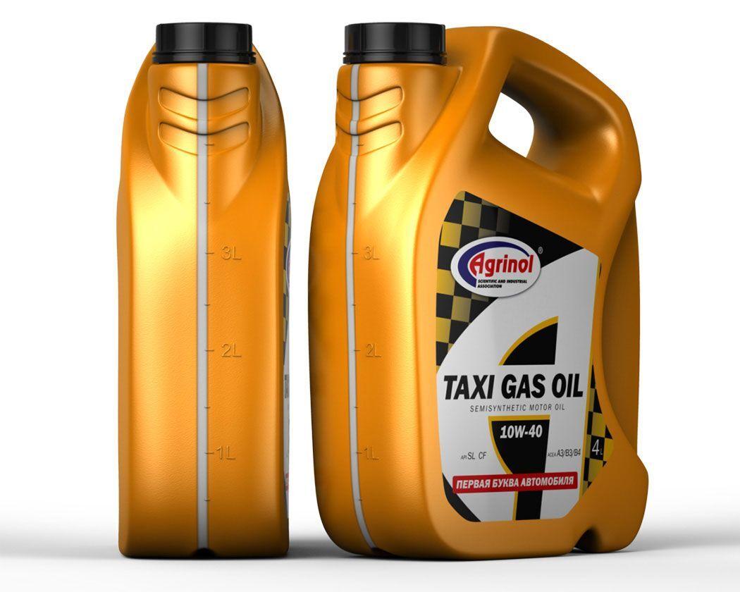 Моторное масло полусинтетическое TAXI GAS Oil 10W-40 SL/CF 4l