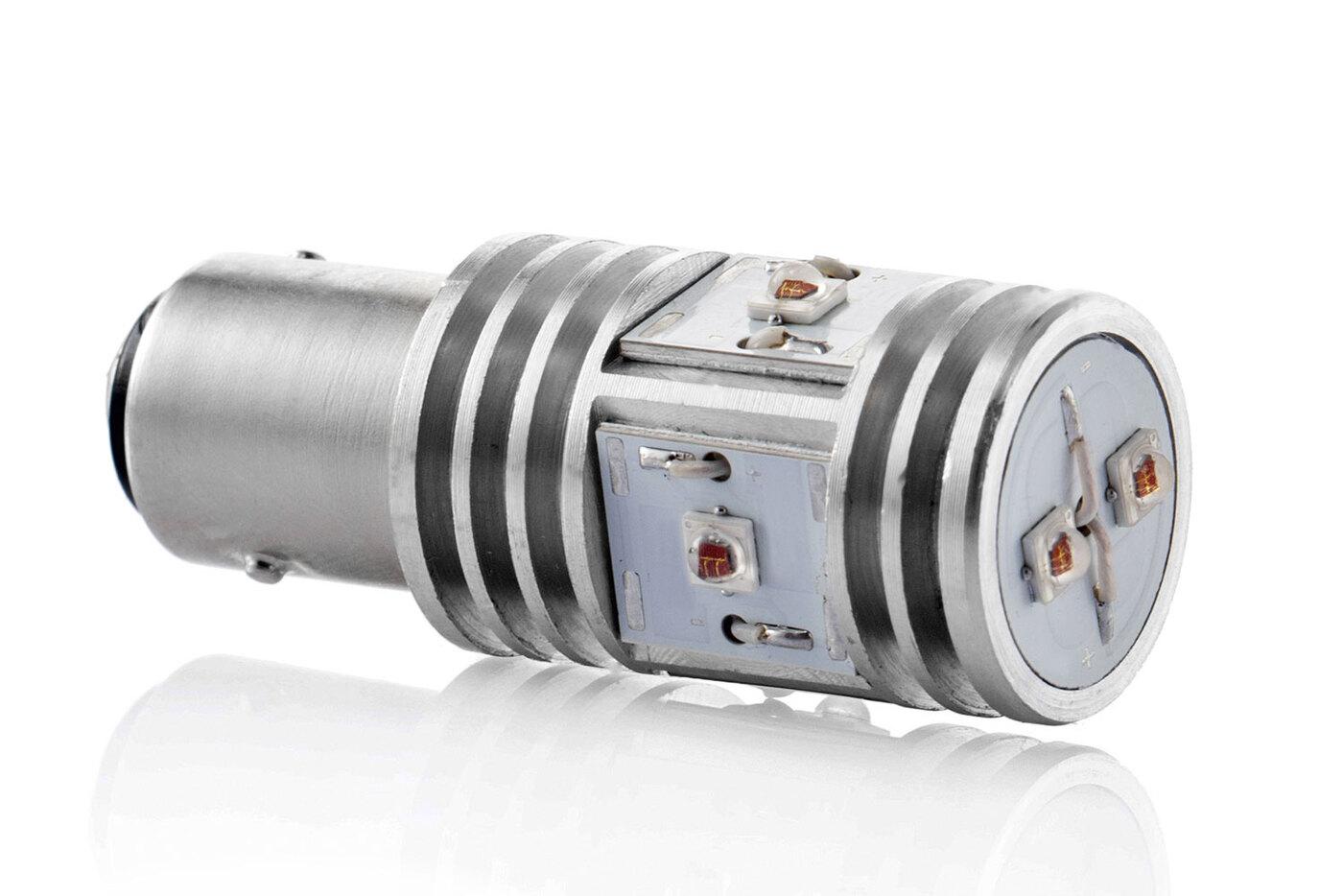 Автомобильная светодиодная лампа NeTuning P21/5W-6HL для задних габаритных огней, совмещенных со стоп сигналами, 60 / 800 Лм, 0,5 / 5 Вт, красный