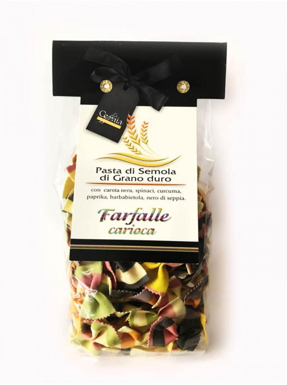 La Novella детская разноцветная паста ручной работы в форме фарфалле.