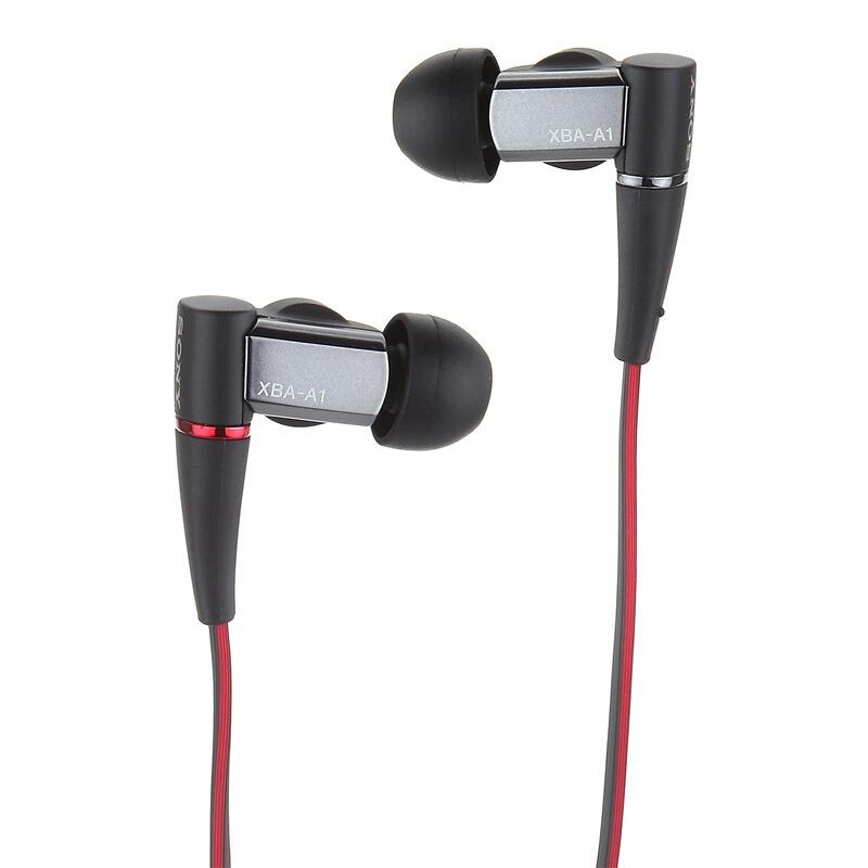 Наушники проводные Sony XBA-A1AP, черный, красный