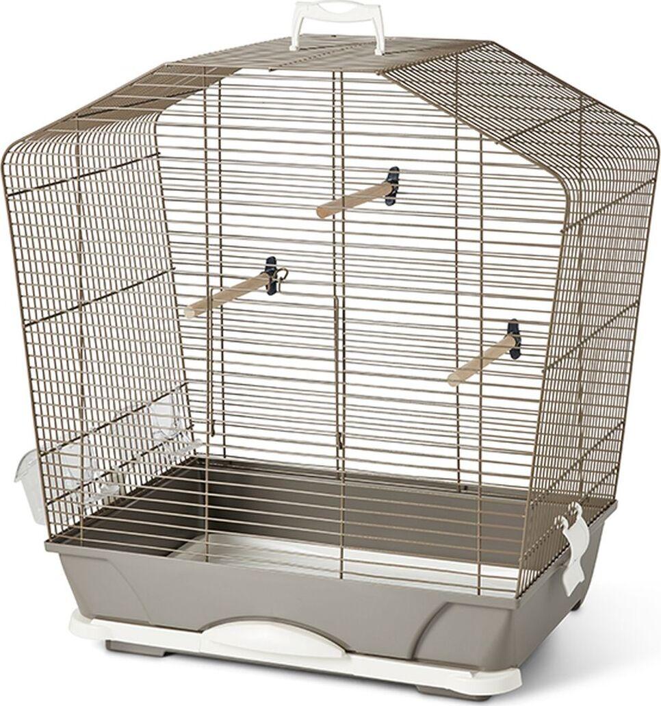 клетка для птиц savic camille 40, светло-серый