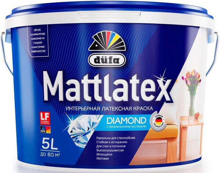 Краска DUFA , Водно-дисперсионная, Матовое покрытие 2.5 л