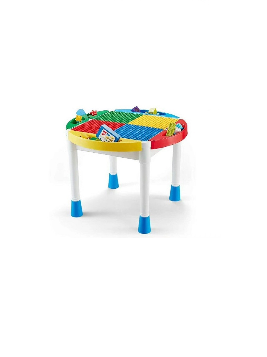 Стол для конструирования База игрушек 4 в 1: конструктор - детали, пластины , рисование, хранение