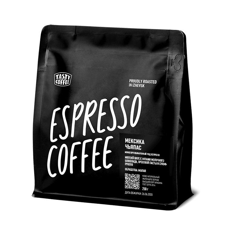 Кофе в зернах Tasty Coffee Мексика Чьяпас, 250 г