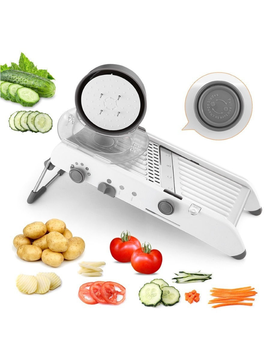 GRV-shop / Терка шинковка / Овощерезка ручная / Многофункциональный измельчитель для овощей и фруктов