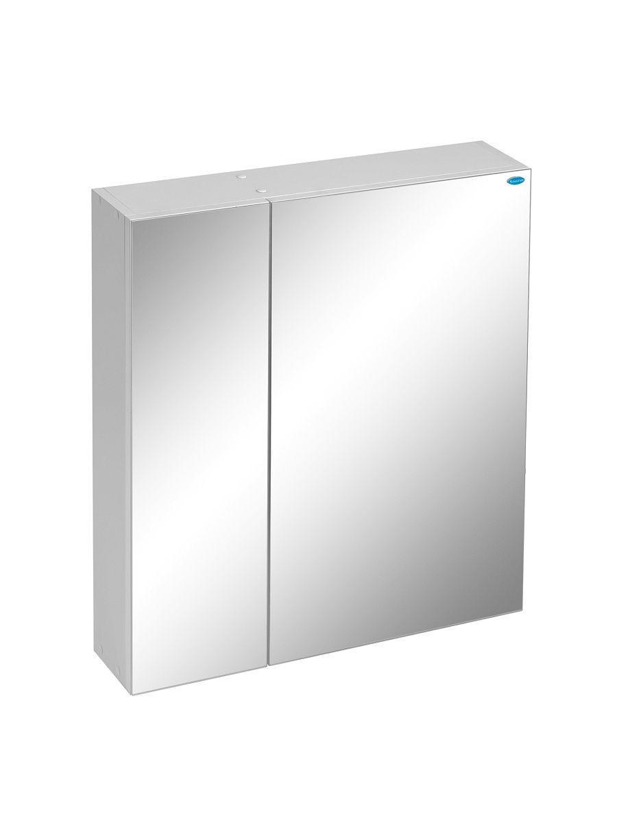 Шкаф навесной DeRossa, 60х14х66 см, Шкаф-зеркало подвесной Профиль 60, Правый