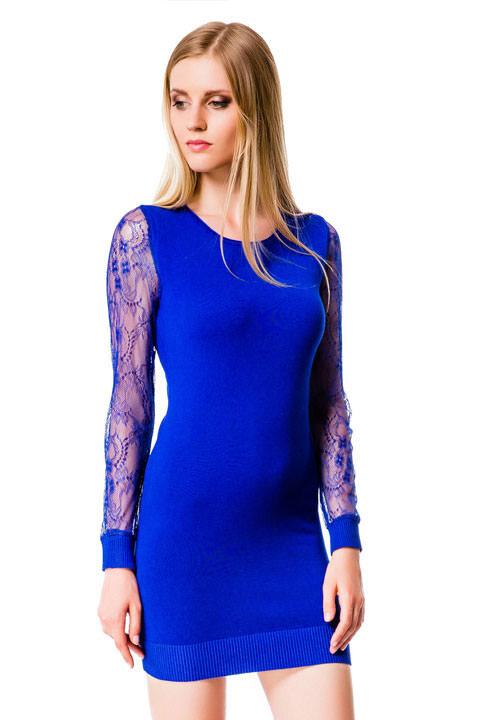 Темно Синее Обтягивающее Платье